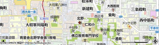 京都府京都市上京区東竪町周辺の地図