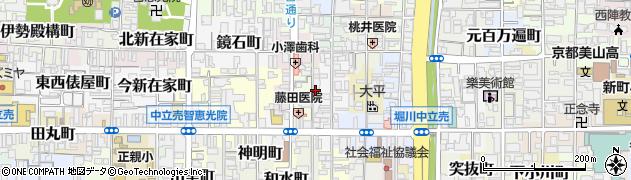 京都府京都市上京区庇町周辺の地図