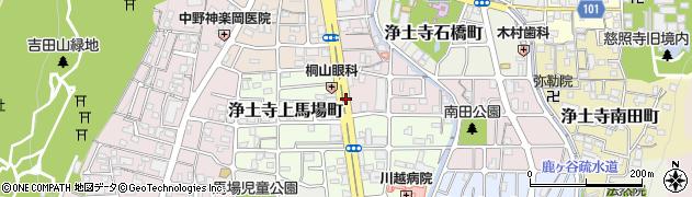 京都府京都市左京区浄土寺東田町周辺の地図