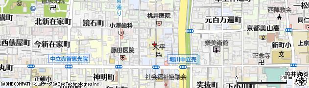 京都府京都市上京区小寺町周辺の地図