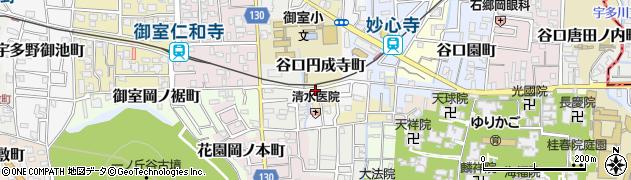 京都府京都市右京区谷口円成寺町周辺の地図