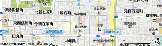 京都府京都市上京区梨木町周辺の地図