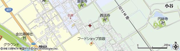 滋賀県蒲生郡日野町小谷周辺の地図