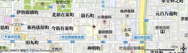 京都府京都市上京区下鏡石町周辺の地図