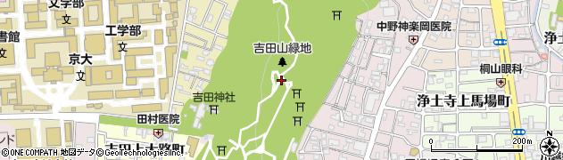 京都府京都市左京区吉田神楽岡町周辺の地図