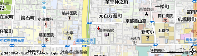 京都府京都市上京区松之下町周辺の地図