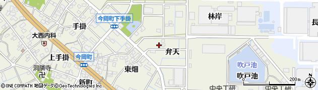 愛知県刈谷市今岡町(弁天)周辺の地図