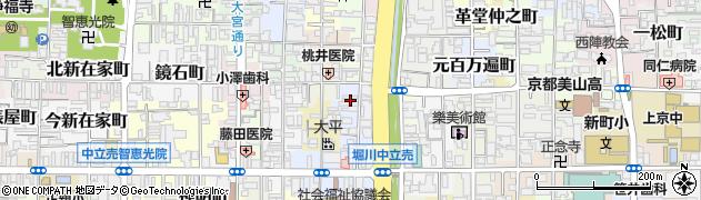 京都府京都市上京区福大明神町周辺の地図