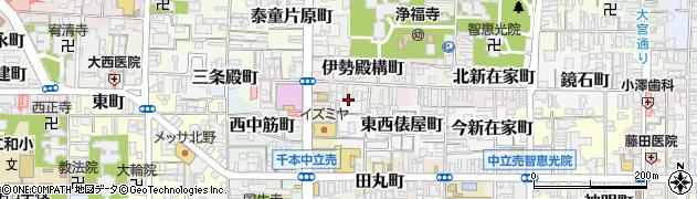 京都府京都市上京区伊勢殿構町周辺の地図