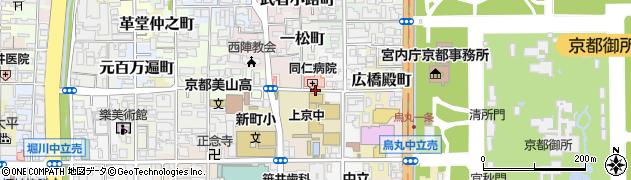 京都府京都市上京区東日野殿町周辺の地図