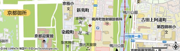 京都府京都市上京区九軒町周辺の地図