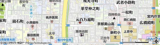 京都府京都市上京区西川端町周辺の地図