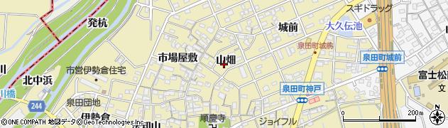 愛知県刈谷市泉田町(山畑)周辺の地図