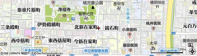 京都府京都市上京区鏡石町周辺の地図