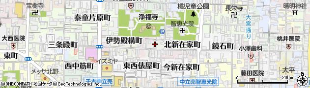 京都府京都市上京区革堂ノ内町周辺の地図