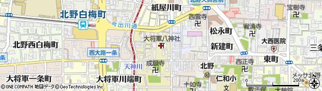 大将軍八神社周辺の地図