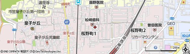 滋賀県大津市桜野町周辺の地図