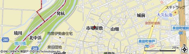 愛知県刈谷市泉田町(市場屋敷)周辺の地図