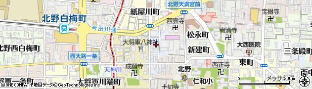 京都府京都市上京区大上之町周辺の地図
