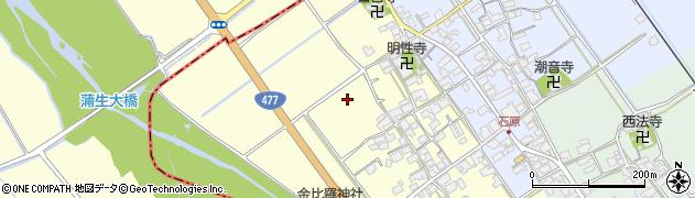 滋賀県日野町(蒲生郡)増田周辺の地図