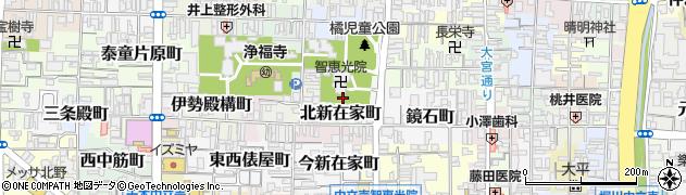 京都府京都市上京区智恵光院前之町周辺の地図
