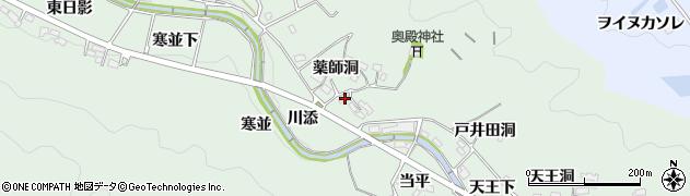 愛知県岡崎市奥殿町(薬師洞)周辺の地図