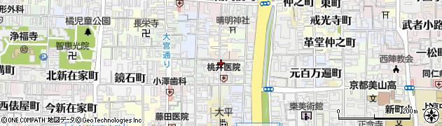 京都府京都市上京区横神明町周辺の地図