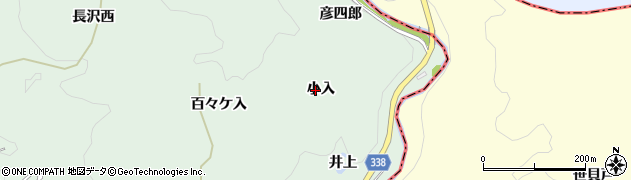 愛知県豊田市長沢町(小入)周辺の地図