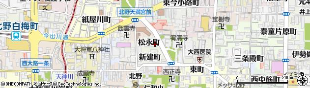 京都府京都市上京区松永町周辺の地図