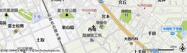 愛知県刈谷市今岡町(西畑)周辺の地図