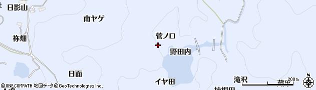 愛知県豊田市下山田代町(菅ノ口)周辺の地図