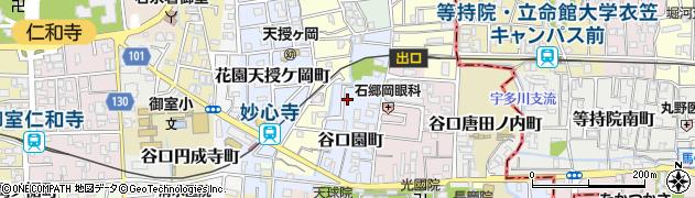 京都府京都市右京区谷口園町周辺の地図