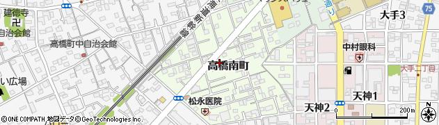 静岡県静岡市清水区高橋南町周辺の地図