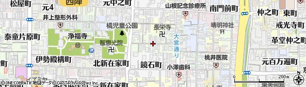 京都府京都市上京区栄町周辺の地図