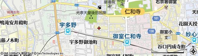 京都府京都市右京区宇多野柴橋町周辺の地図
