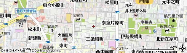 京都府京都市上京区若松町周辺の地図