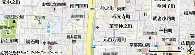 京都府京都市上京区竪富田町周辺の地図