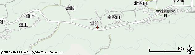 愛知県岡崎市日影町(堂前)周辺の地図