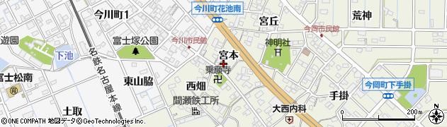 愛知県刈谷市今岡町(宮本)周辺の地図