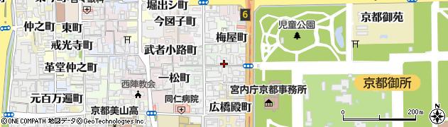 京都府京都市上京区観三橘町周辺の地図