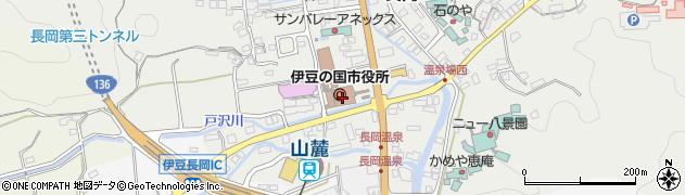 静岡県伊豆の国市周辺の地図