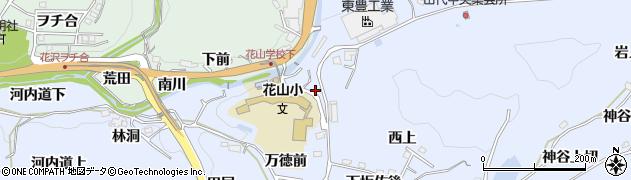 愛知県豊田市下山田代町(薮田)周辺の地図