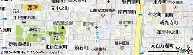 京都府京都市上京区石薬師町周辺の地図