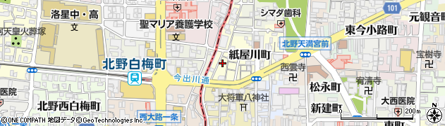 京都府京都市上京区紙屋川町周辺の地図