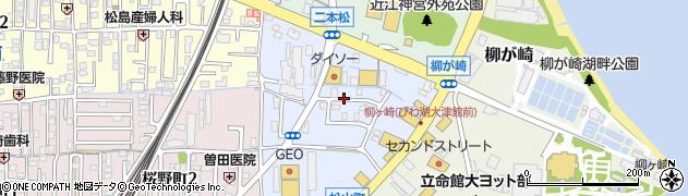 滋賀県大津市松山町周辺の地図