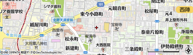 京都府京都市上京区末之口町周辺の地図
