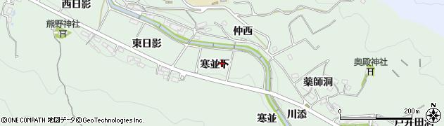 愛知県岡崎市奥殿町(寒並下)周辺の地図