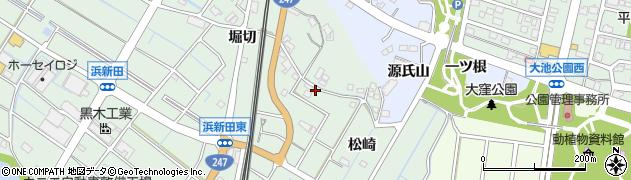 愛知県東海市大田町(松崎)周辺の地図