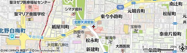 京都府京都市上京区西今小路町周辺の地図