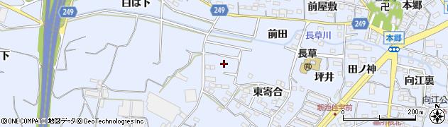 愛知県大府市長草町(東寄合)周辺の地図